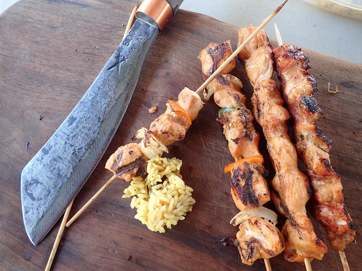 Filipino BBQ chicken cabobs