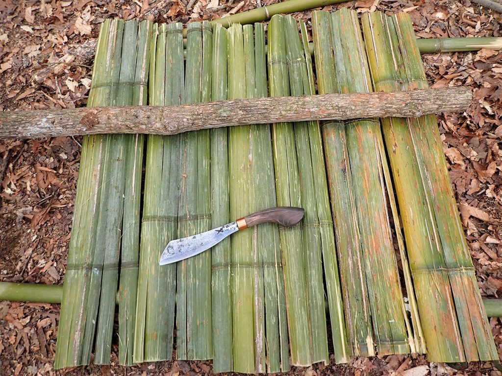 Flattened out bamboo tabletop