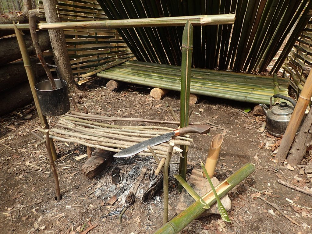 A complete bamboo jungle kitchen