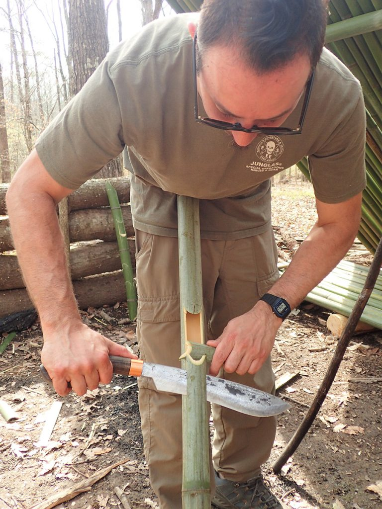 Constructing a jungle style rice maker