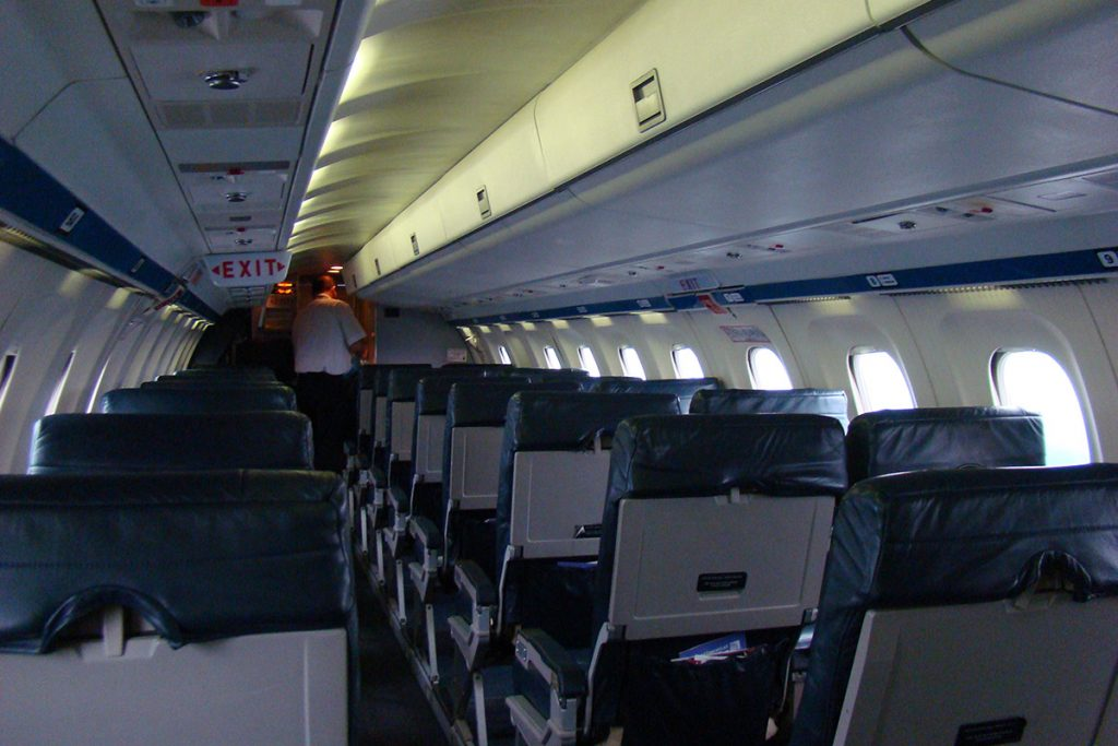 From an environmental weapon standpoint, the typical airplane cabin is somewhat austere. However, if you look closely, defensive tools can be found.