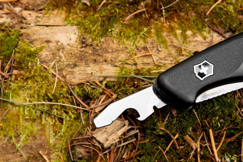 The bottle opener on the Onyx Black Ranger 55