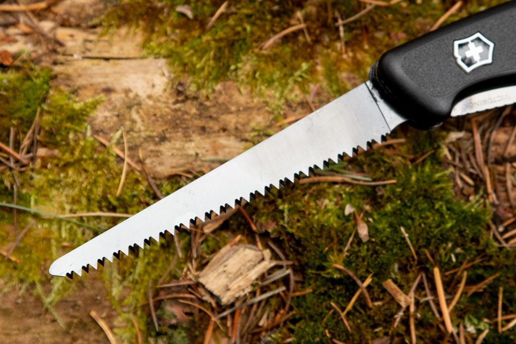 The saw on the Onyx Black Ranger 55 Swiss Army Knife