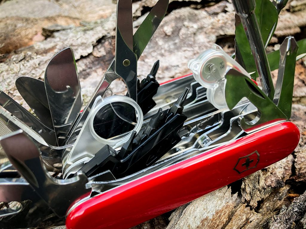 The many tools of the Swiss Champ XXL Swiss Army Knife
