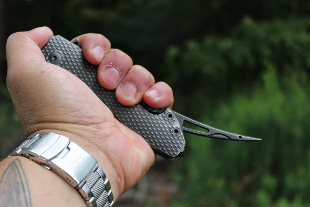The DPX Gear Demo Flipper features a retractible awl/spike.