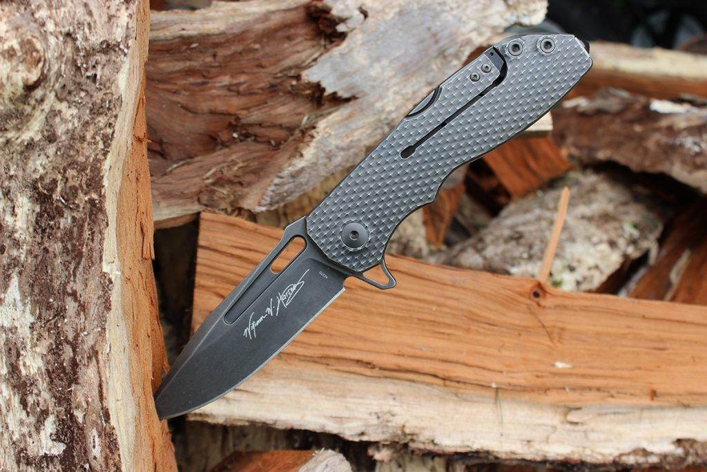 William Harsey's signature is featured on the presentation side of the DPX Gear Demo Flipper.