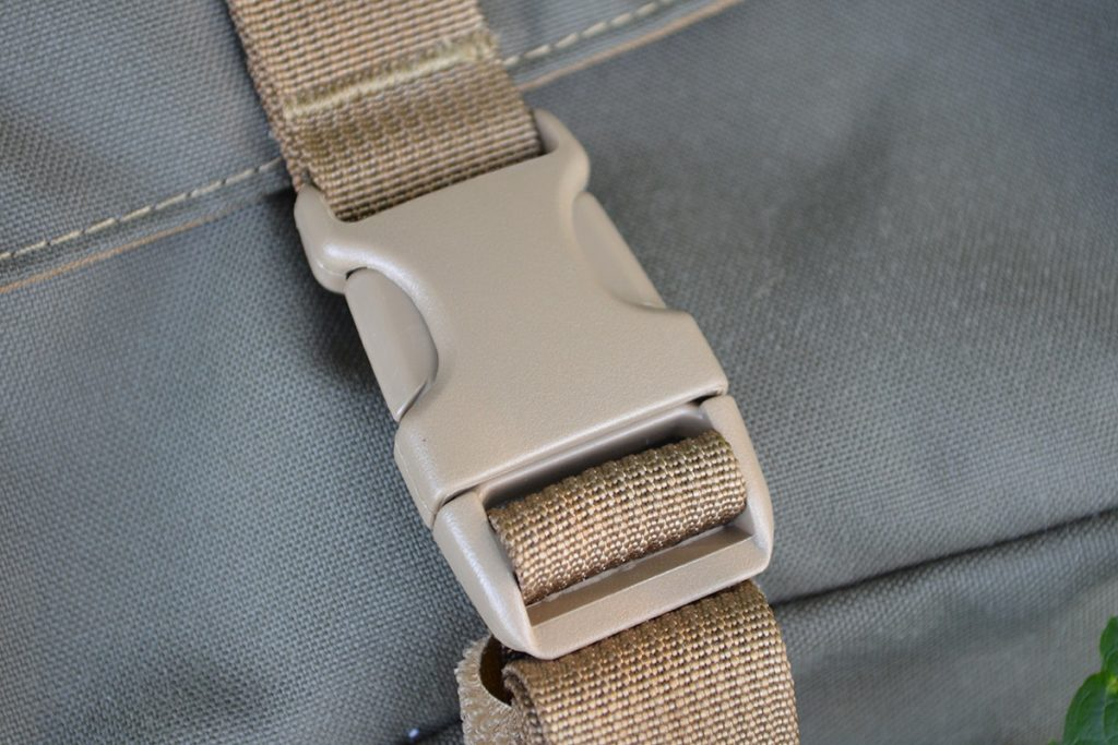 All of the buckles are high-quality, thick plastic.