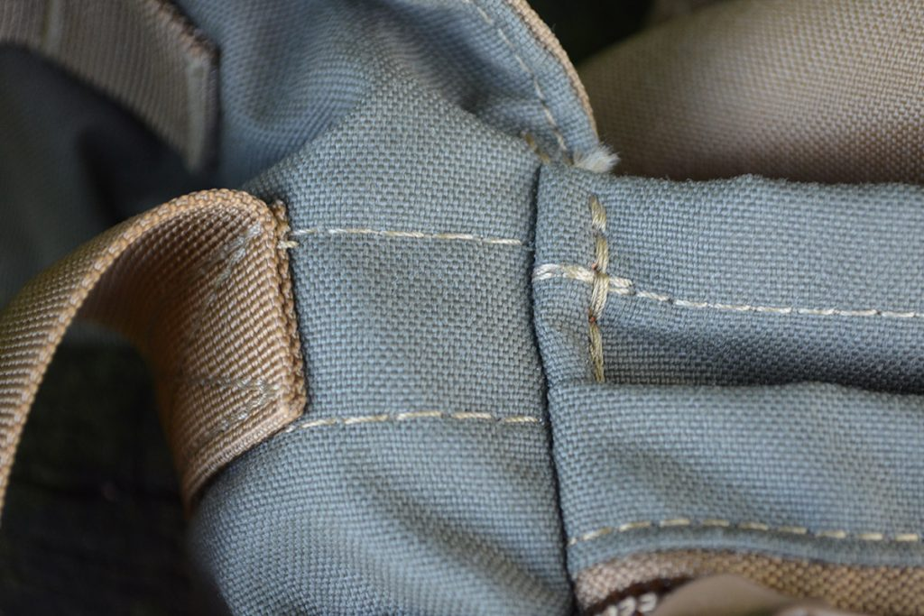 The stitching on the The Hidden Woodsman Haversack is absolutely flawless.