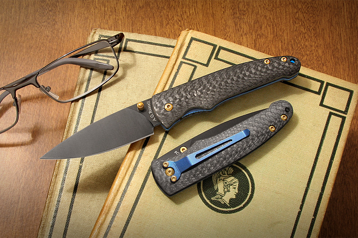 A.G. Russell Mosquito Hawk Sub $100 Carbon Fiber Gentleman's Knife