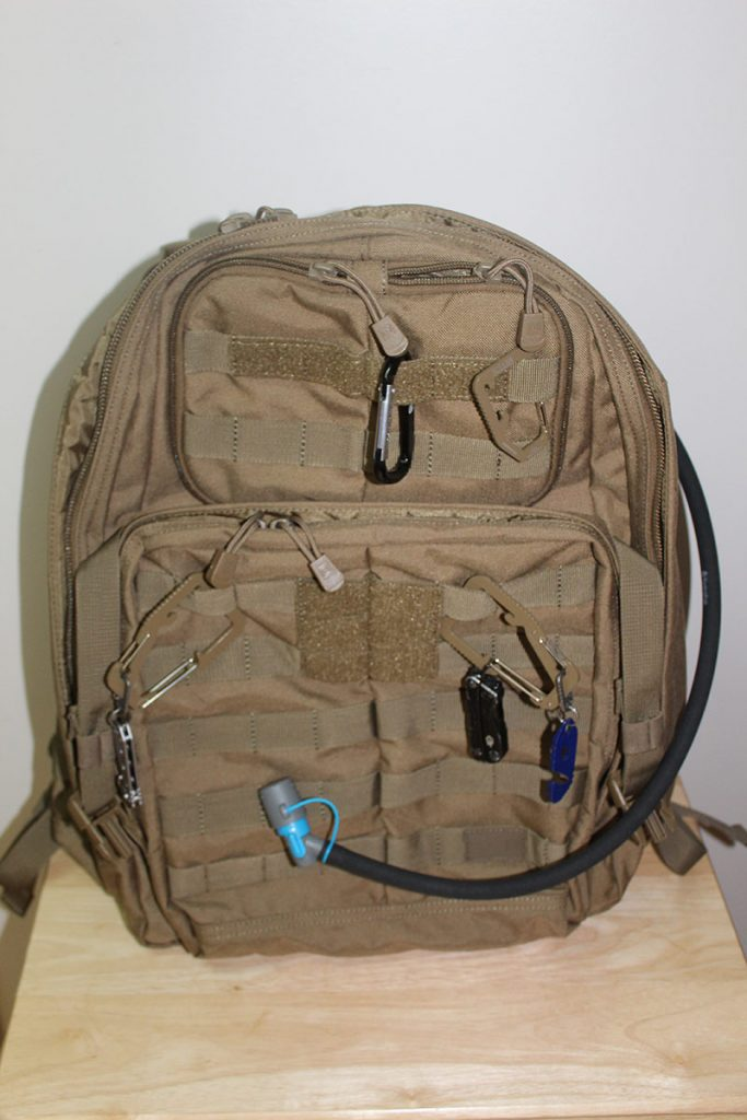 My pack with hydration bladder installed.