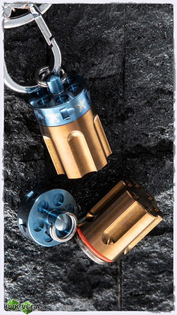 Cool custom revolver cylinder capsule.