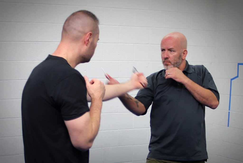 Righty-Versus-Lefty Knife Defense Tactics: The Follow Strategy