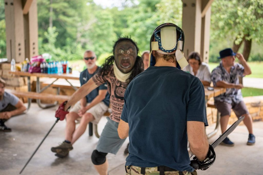 Chris Caban of Hog Mountain Tool and Tactical hosts Krampus, as FMA sparing event, every year.