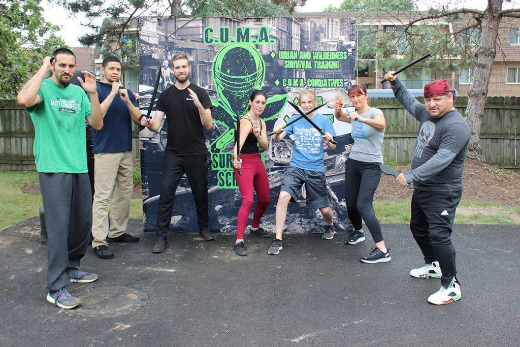 A C.U.M.A. Combatives class.